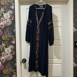 Size Medium Hinge By Nordstrom Navy Dress